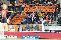 Supporters Lorient - Hommage aux sportifs decedes - 14.03.2015 - Lorient / Caen - 29eme journee de Ligue 1<br /> Photo : Vincent Michel / Icon Sport