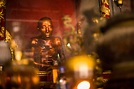 The restored Vu Khac Minh mummy at Dau pagoda, Vietnam, Southeast Asia