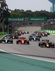 November 17, 2019, SãO Paulo, Brazil: SÃO PAULO, SP - 17.11.2019: GRANDE PRÊMIO DO BRASIL F1 2019 - Max VERSTAPPEN (NED) Aston Martin Red Bull Racing at the start of the Formula 1 2019 Brazilian Grand Prix, held at the Interlagos Circuit in Sao Paulo, SP. (Credit Image: © Rodolfo Buhrer/Fotoarena via ZUMA Press)