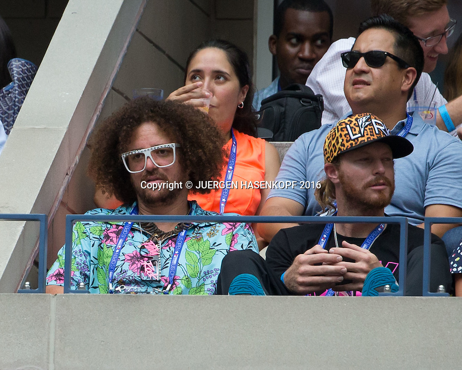 US Open  2016 Feature,Musiker Redfoo sitzt in einer VIP Loge,<br /> <br /> <br /> Tennis - US Open  2016 Feature - Grand Slam ITF / ATP / WTA -  Flushing Meadows - New York - New York - USA  - 9 September 2016.