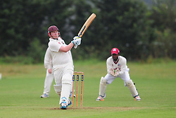 OPENING OGs BATSMAN GARY SMALL HITS  OUT AFTER GAME RESTARTS AFTER HEAVY RAIN, Wellingborough Old Grammarians v  Kislingbury Cricket Club, Saturday 3rd September 2016