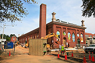 The exterior of the Eastern Market during the recent renovation.