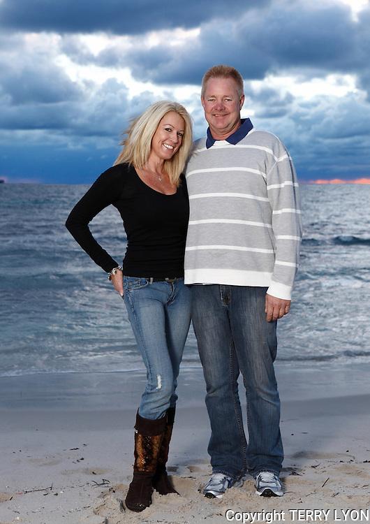 Beach portrait shoot for Carol and Ashley