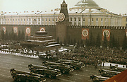 Military review, Red Square, Moscow, 7 November 1971.  Communist Soviet USSR Russia.