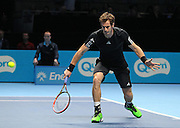 Andy Murray during Novak Djokovic vs Andy Murray match at the Barclays ATP World Tour Finals, O2 Arena, London, United Kingdom on 16 November 2014 © Pro Sports Images