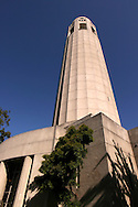 Coit Tower was built in Pioneer Park atop Telegraph Hill in 1933 at the bequest of Lillie Hitchcock Coit to beautify the City of San Francisco; Lillie bequeathed one third of her estate to the City of San Francisco.  Popular opinion holds that the tower was built to resemble a fire hose nozzle because of Lillie's affinity with the San Francisco firefighters of the day.  Inside, the Coit Tower murals were carried out under the Public Works of Art Project, the first of the New Deal federal employment programs for artists.