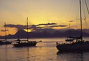 Sunset, Papeete, Tahiti, French Polynesia<br />