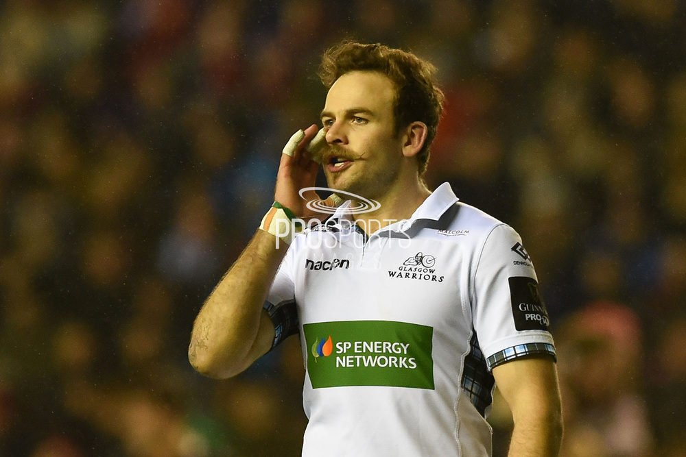 Ruaridh Jackson calls the shots during the Guinness Pro 14 2017_18 match between Edinburgh Rugby and Glasgow Warriors at Murrayfield, Edinburgh, Scotland on 23 December 2017. Photo by Kevin Murray.