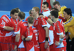 Team of Poland during 21st Men's World Handball Championship preliminary Group C match between Poland and Tunisia, on January 21, 2009, in Arena Varazdin, Varazdin, Croatia. Win of Poland 31:27. (Photo by Vid Ponikvar / Sportida)
