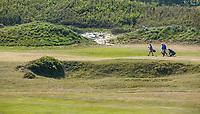 DOMBURG - Nieuwe duinen langs hole 6/15  van de Domburgsche Golf Club in Zeeland (Walcheren) . Een van de vele grasbunkers, inslagen uit WOII , COPYRIGHT KOEN SUYK