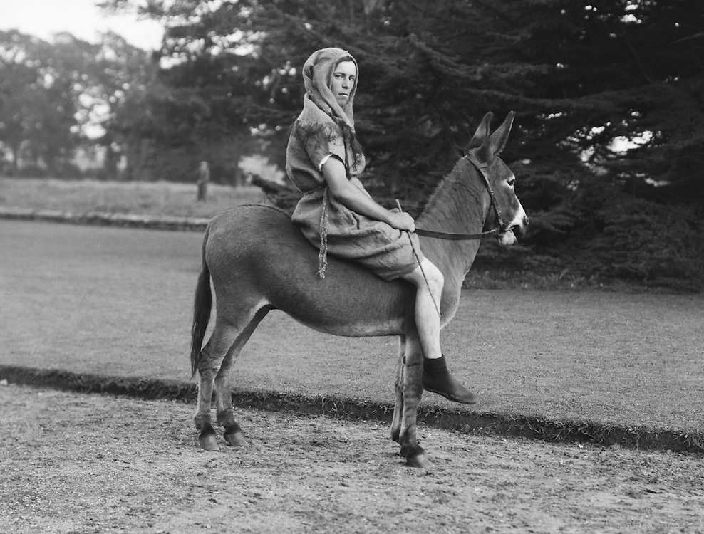 Donkey Boy, Lacock Abbey Pageant, Wiltshire, England, 1932