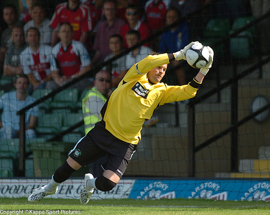 T Burton Goalkeeper Forest Green Rovers, Forest Green Rovers v Kettering Town, Conference, The New Lawn Stadium, Nailsworth, Saturday 8thAugust 2009,<br /> Score 1-2 (Marna 71,81,)