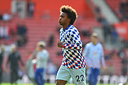 Willian (22) of Chelsea warming up before the Premier League match between Southampton and Chelsea at the St Mary's Stadium, Southampton, England on 7 October 2018.