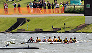 Nottingham, Great Britain, ENGLAND,  Shiplake College, first eight , taking on water but carry on rowing  through the waves,  during the morning processional race, at the 2008 National Schools Regatta, Holme Pierrepont,  Saturday,  24/05/2008.  [Mandatory Credit:  Peter Spurrier/Intersport Images]