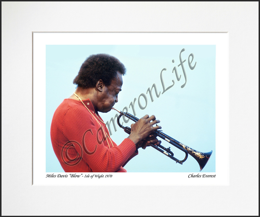Miles Davis &quot;blow&quot; - An affordable archival quality matted print ready for framing at home.<br />