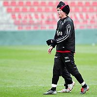 Fotball / Football<br /> Trening Norge foran Play Off mot Tsjekkia<br /> Training Norway in front of the play off match v Czech Republic<br /> Praha / Prague<br /> 15.11.2005<br /> Foto: Morten Olsen, Digitalsport<br /> <br /> Jan Gunnar Solli - Rosenborg