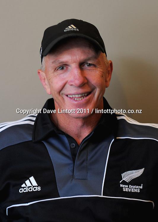 Coach Gordon Tietjens. NZ sevens team headshots at James Cook Hotel, Wellington on Thursday, 27 January 2011. Photo: Dave Lintott / lintottphoto.co.nz