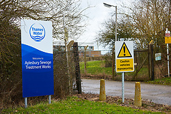 """FIL PICTURE: Thames Water has been fined a record £20m after pumping nearly 1.5 billion litres of untreated sewage into the River Thames.<br /> © Licensed to London News Pictures. 02/02/2017. AYLESBUY, UK.  General view of the Aylesbury Sewage Treatment Works site, operated by Thames Water. The utility company is due to be sentenced at Aylesbury Crown Court after pleading guilty to a range of environmental offences dating back to 2013. This site recorded 3,500 high priory alarms over a nine month period and was described in court by the prosecuting barrister as """"completely out of control."""" In total nearly half a billion liters of raw or untreated sewage was discharged into the Thames from five sites in Buckinghamshire and Oxfordshire.    Photo credit: Cliff Hide/LNP"""