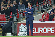 England Manager Gareth Southgate (caretaker) during the FIFA World Cup Qualifier group stage match between England and Scotland at Wembley Stadium, London, England on 11 November 2016. Photo by Phil Duncan.
