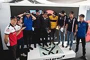 June 7-11, 2018: Canadian Grand Prix. Marcus Ericsson, Sauber F1 Team, C37,  Charles Leclerc (MON), Sauber F1 Team, C37,  Pierre Gasly, Scuderia Toro Rosso Honda, STR13,  Stoffel Vandoorne (BEL), McLaren Renault, MCL33,  Fernando Alonso (SPA), McLaren Renault, MCL33,  Carlos Sainz Jr. (SPA) Renault Sport Formula One Team, R.S. 18,  Esteban Ocon (FRA), Sahara Force India, VJM11,  Sergio Perez (MEX), Sahara Force India, VJM11,  Pierre Gasly, Scuderia Toro Rosso Honda, STR13 celebrate Alonso's 300th GP