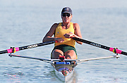 St Catherines, CANADA,  Women's Single Sculls Sculls AUS W1X Gina DOUGLAS, competing at the 1999 World Rowing Championships - Martindale Pond, Ontario. 08.1999..[Mandatory Credit; Peter Spurrier/Intersport-images]     ... 1999 FISA. World Rowing Championships, St Catherines, CANADA