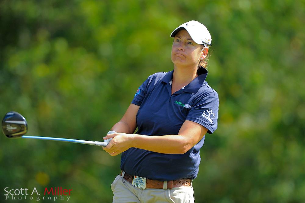 Angela Buzminski during the second round of the Symetra Tour Championship at LPGA International on Sept. 27, 2013 in Daytona Beach, Florida. <br /> <br /> <br /> &copy;2013 Scott A. Miller