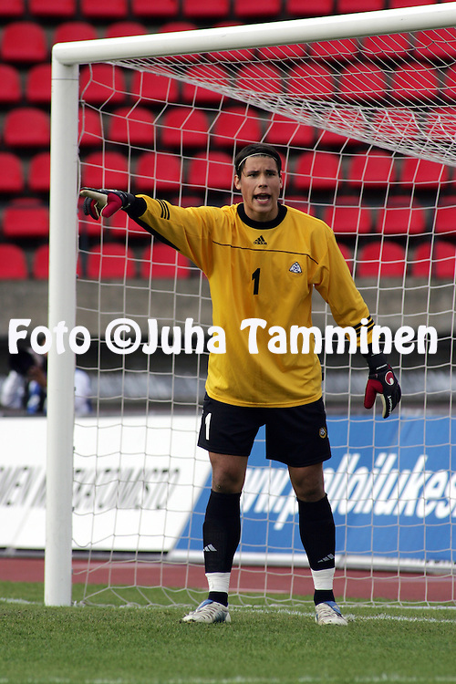 07.06.2005, Ratina Stadium, Tampere, Finland..UEFA Under-21 European Championship qualifying match, Finland v The Netherlands.Niki M?enp?? - Finland.©Juha Tamminen
