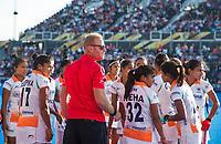 Londen - coach Sjoerd Marijne (Ind)  tijdens de cross over wedstrijd India-Italie (3-0) bij het WK Hockey 2018 in Londen . In  COPYRIGHT KOEN SUYK