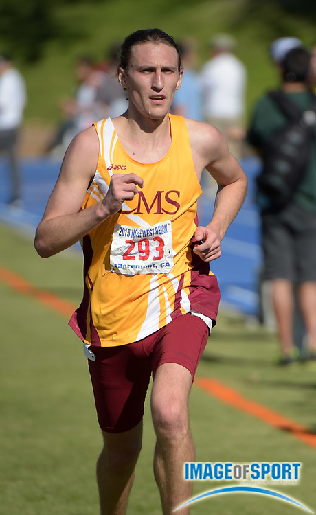 Nov 14, 2015; Claremont, CA, USA; Zorg Loustalet of Claremont-Mudd-Scripps places third in 25;28 during the 2015 NCAA Division III West Regionals cross country championships at Pomona-Pitzer College.