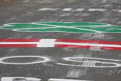 Danish flag on road during the Men's Elite Road Race at the UCI Road World Championships on September 25, 2011 in Copenhagen, Denmark. (Photo by Marjan Kelner / Sportida Photo Agency)