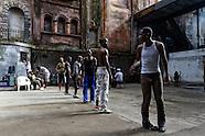 Dancers on Consulado, Havana, Cuba.