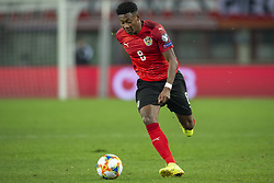 March 21, 2019 - Vienna, Austria - David Alaba of Austria runs with the ball during the UEFA European Qualifiers 2020 match between Austria and Poland at Ernst Happel Stadium in Vienna, Austria on March 21, 2019  (Credit Image: © Andrew Surma/NurPhoto via ZUMA Press)