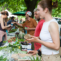 Plan B Organic Farms market table at Dufferin Grove Farmers Market