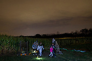 Mount Hope, New York  - Fright Night with a haunted barn and corn maze at Pierson's Farm on Oct. 25, 2014.