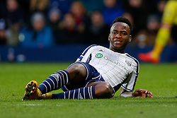 Saido Berahino of West Brom looks dejected after his shot hits the post - Photo mandatory by-line: Rogan Thomson/JMP - 07966 386802 - 31/01/2015 - SPORT - FOOTBALL - West Bromwich, England - The Hawthorns - West Bromwich Albion v Tottenham Hotspur - Barclays Premier League.