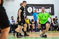 David Didovic of MRK Krkaduring handball match between RK Gorenje Velenje and MRK Krka in Final of Slovenian Men Handball Cup 2018/19, on Maj 12, 2019 in Novo Mesto, Slovenia. Photo by Grega Valancic / Sportida