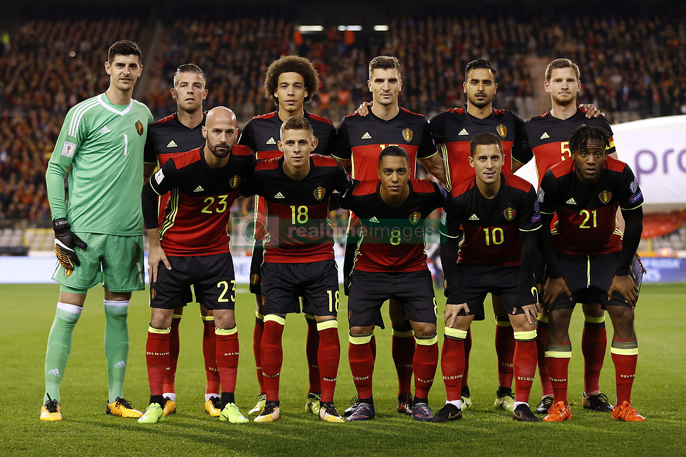 October 10, 2017 - Bruxelles, Belgique - team of Belgium (Credit Image: © Panoramic via ZUMA Press)