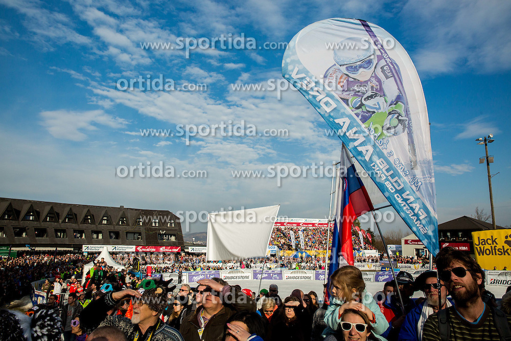 Supporters of Ana Drev (SLO) during the 2nd Run of the 7th Ladies' Giant slalom at 52nd Golden Fox - Maribor of Audi FIS Ski World Cup 2015/16, on January 30, 2016 in Pohorje, Maribor, Slovenia. Photo by Vid Ponikvar / Sportida