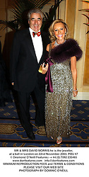 MR & MRS DAVID MORRIS he is the jeweller, at a ball in London on 22nd November 2003.POU 47