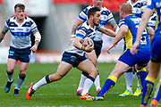 Featherstone Rovers scrum half Tom Holmes (19) in action  during the Challenge Cup 2018 match between Doncaster and Featherstone Rovers at the Keepmoat Stadium, Doncaster, England on 22 April 2018. Picture by Simon Davies.