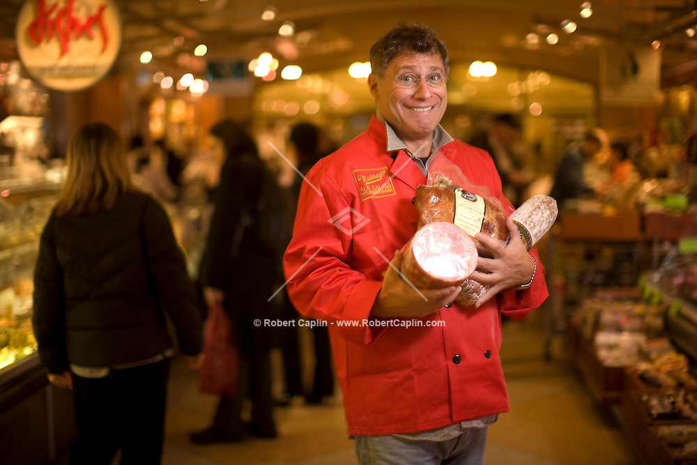 Rob Kaufelt, owner of Murray's Cheese in New York is seen in New York's Central market located in Grand Central Station where he is opening a new salami shop called Murray's Real Meats.  Oct. 29, 2008.