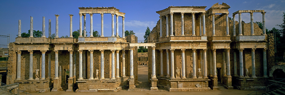 SPAIN, ROMAN CULTURE, MERIDA Roman city founded in 24BC; theater