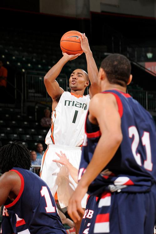 2009 University of Miami Men's Basketball vs Robert Morris