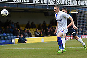Gillingham's Andrew Crofts during the Sky Bet League 1 match between Southend United and Gillingham at Roots Hall, Southend, England on 19 March 2016. Photo by Martin Cole.