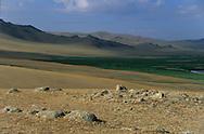 Mongolia. yurts (gers ) in  Orkhon valley near   Karakorum        / Yourtes (gers) dans la vallee de líOrkhon pres de   Karakorum   Mongolie   / P0010632