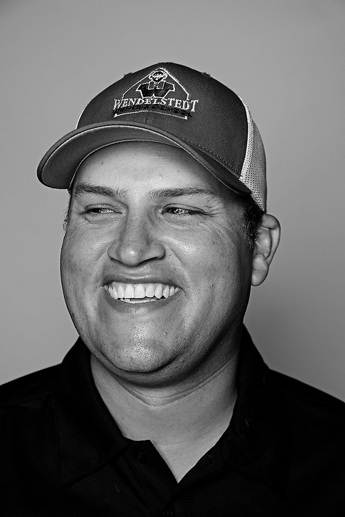 DAYTONA BEACH, FL - FEBRUARY 2, 2016:  Portraits of umpires calling a strike at the Harry Wendelstedt Umpire School in Daytona Beach, Fla.: Brent Rice, 34, (instructor, administrative director)of Battle Creek, Mich. (Photo by Melissa Lyttle)