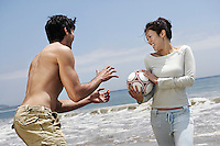 Couple with Volleyball