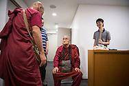 The monk Surai Sasai is preparing for his speech at Mount Koya, Japan<br /> Photo by Christina Sj&ouml;gren