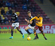 23rd December 2017, Fir Park, Motherwell, Dundee; Scottish Premier League football, Motherwell versus Dundee; Motherwell's Gaël Bigirimana and Dundee's Mark O'Hara