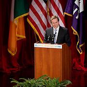 February 9, 2012 - New York, NY :.Taoiseach (Irish Prime Minister) Enda Kenny speaks during an 'Invest in Ireland' forum at New York University on Thursday morning, Feb. 9, 2012. .CREDIT: Karsten Moran for The Irish Independent